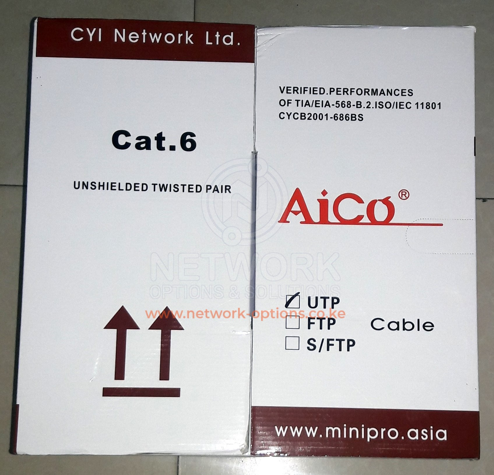 Aico Cable Utp Cat6 Network Options And Solutions Ltd Phone Wiring Click To Enlarge