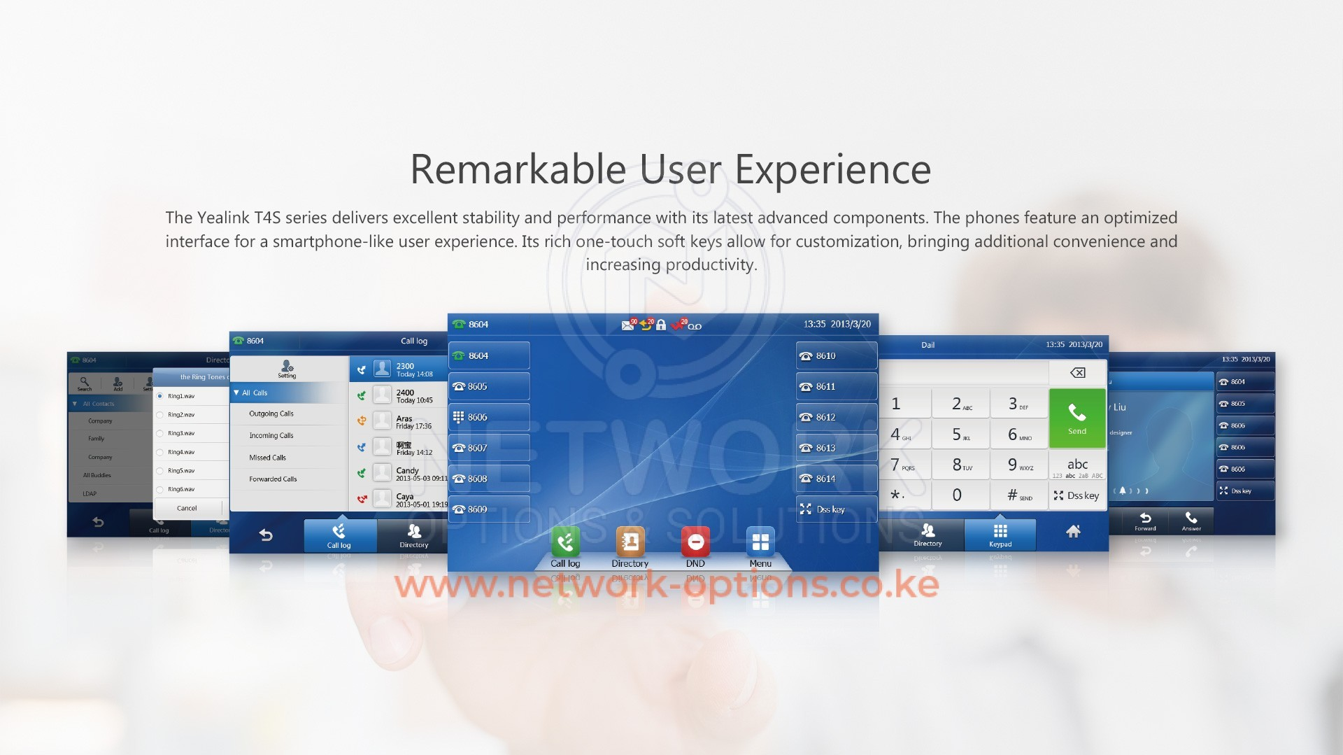 Yealink SIP T48S IP Phone in Nairobi Kenya | Network Options